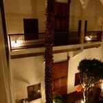 The riad, internal garden, view from 1st floor