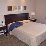 Il letto Matrimoniale e una parte della stanza.