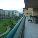 View from balcony towards ocean