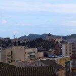 Una delle zone di Cagliari viste dalla camera da letto.