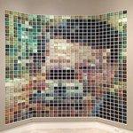 Pixel panel made of Polaroids