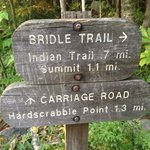 Trail sign at the start of the Bridle Trail