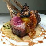roasted rack lamb / heirloom tomato jam / grilled fig