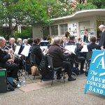 Adur Concert Band entertaining the customers