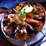 Seafood paella-chef Victor Diaz is great!!'n