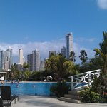 Poolside view of Panama City