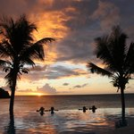 Sunset pool.