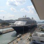 Cruise ship in Miraflores Lock