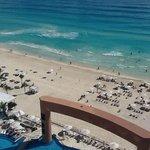 Picture taken from balcony, beach side