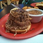 Now that's a bbq sandwich!!