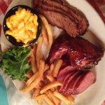 Texan Sampler -the cornbread, it didn't last long enough!