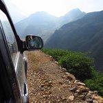On the way to Hongmen village