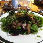 Yummy pulled lamb salad