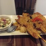 chicken and pork sate