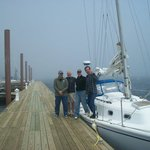 Foggy sail to Harpswell Maine