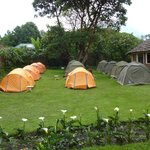 Guest tents in front of the En-suite Banda