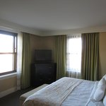 Elegant decor in one-bedroom suite