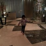my daughter at the lobby