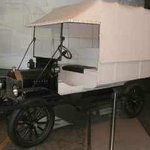Vintage ambulance vehicle