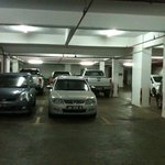 Inside basement parking