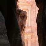 Glimpse of the Treasury at Petra