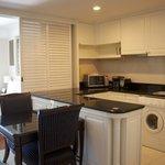 Kitchen area looking towards bedroom - Suite