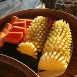 les fruits frais aux petits déjeuners