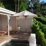 Vista suite has a nice little plunge pool