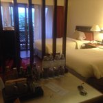 Our room! great bed, clean and had this heavenly smell that the staff came to spray there every