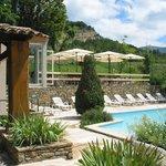 terrasse pizzeria et piscine
