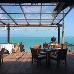 Chom Dao restaurant with a sea view