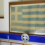 First greek flag of Thessaloniki after its liberation