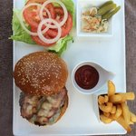 Lunch burger was perfect