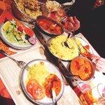 tikka massala au poulet, Riz, légumes  Nam garlic