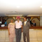 Mom, Dad and Ajith (General Manager) with Reception Staff