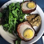 Scotch Egg with the best mustard ever!