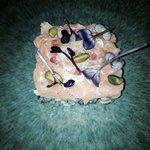 Tartare de champignons, saumon cru