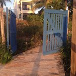 Gate leading directly out on to the beach