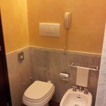 Bathroom with emergency phone