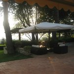great outdoor area for sundowners