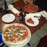 Chicago style pizza and a deluxe- yum!