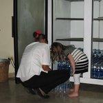 Kassie helping Ana