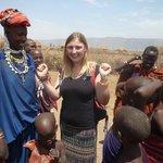 Trying on some Maasai jewellery