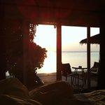 Sunset from Beachfront Terrace room...