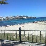 spiaggia fronte hotel