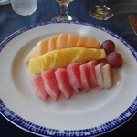 Breakfast at PC Oceana! (fruit plate)