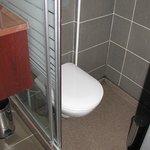 Toilet in shower, room 403