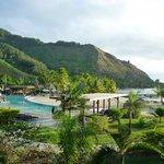 Vue depuis notre chambre Lanai ocean