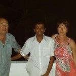 avec Momo sur la terrasse après un dîner typique Sri lankais
