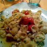 Orecchiette spigola e pomodorini
